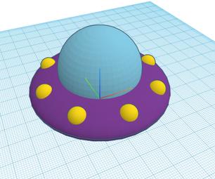 如何使用Tinkercad CodeBlocks以及如何在3D设计中使用它的3D设计的UFO