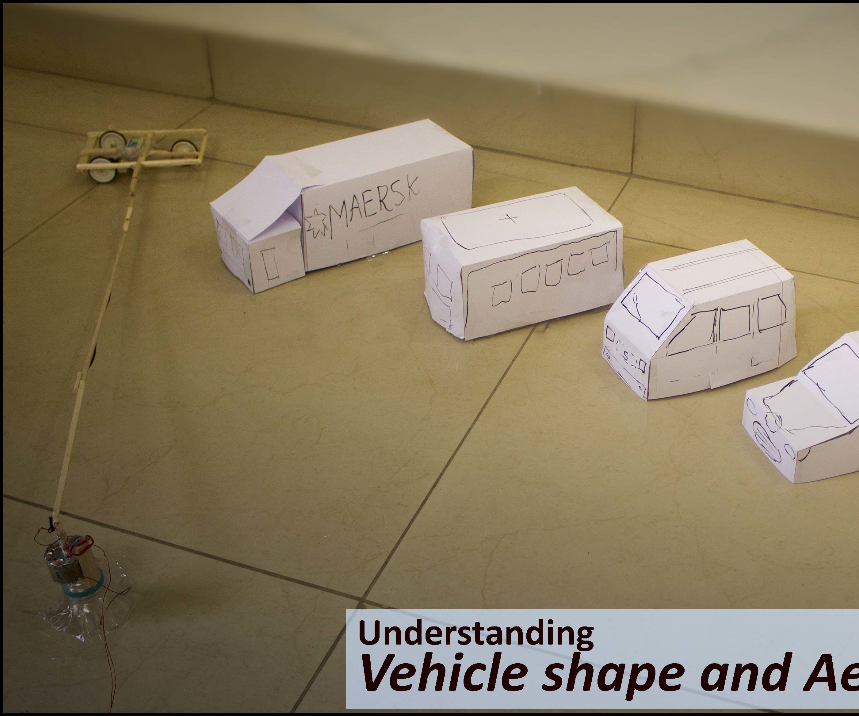 Making Various Paper Shapes Automotive Vehicle and Measuring Drag of It