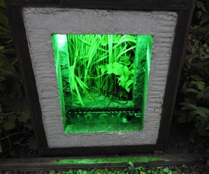 Concrete Framed Water Feature With Planter