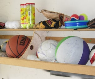 How to Build a Ball Bin Shelf