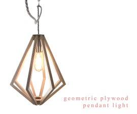 Geometric Plywood Pendant Light