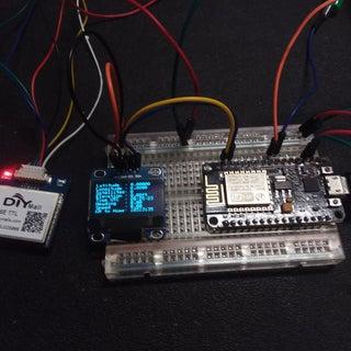 NodeMCU ESP8266 12e With GPS & OLED Display