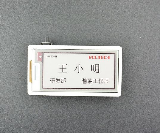 How to Make a Name Badge With Tricolor E-ink Display