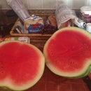 Mess Free Water Melon Cutting