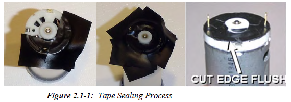 Seal the Motors So That Wax Cannot Get Inside