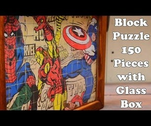 Block Puzzle 150 Pices With Glass Box