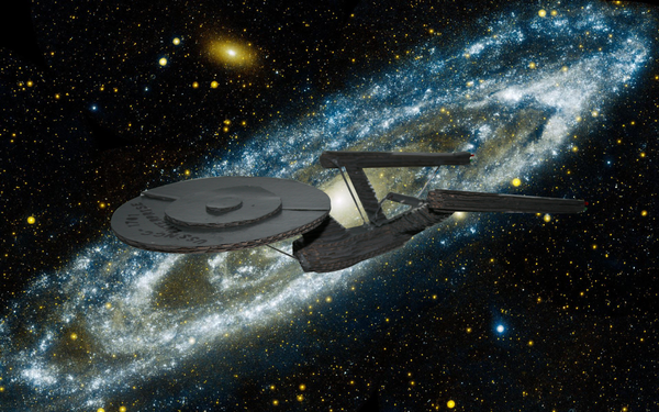 USS Enterprise Using 123D Make