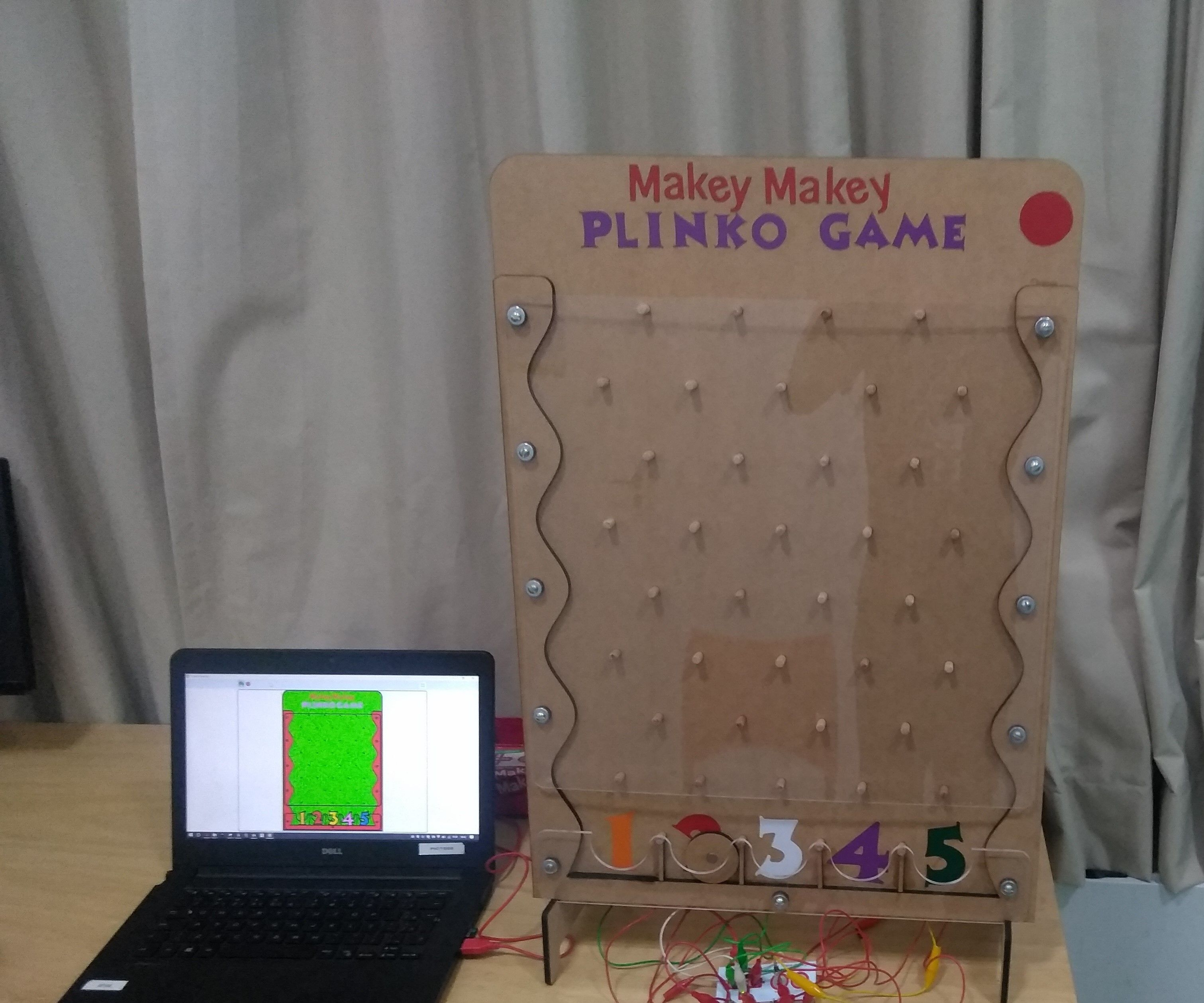 Magnetic Plinko Game With Makey Makey