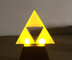 Make a Glowing L.E.D Triforce!