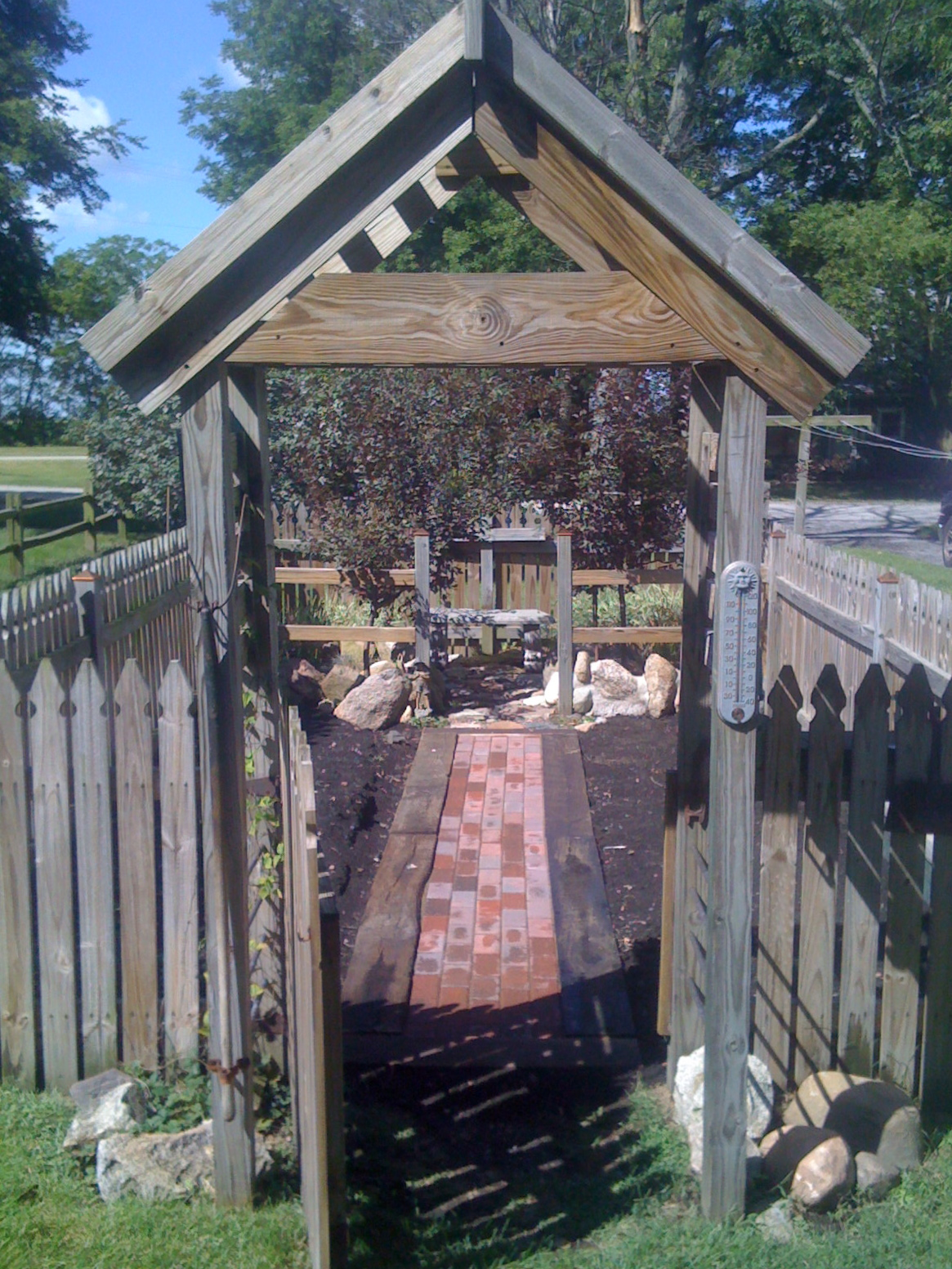 Garden walkway...if I can do it, so can you!