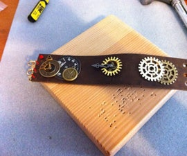 Steampunk Leather Cuff Bracelet