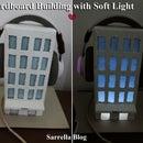 Decorative Cardboard Building With Soft Light