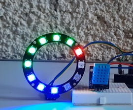 NeoPixel LED Ring Temperature Monitor