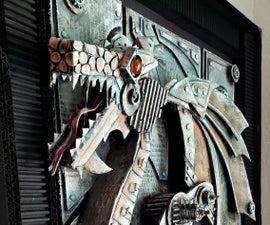 Steampunk Cardboard Dragon