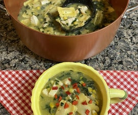 Southwest Chicken & Cheese Ravioli Soup