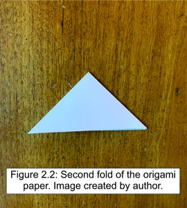 Fold the Origami Paper.