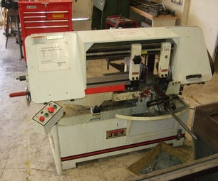 Accurate Angle Cuts on a Horizontal Bandsaw
