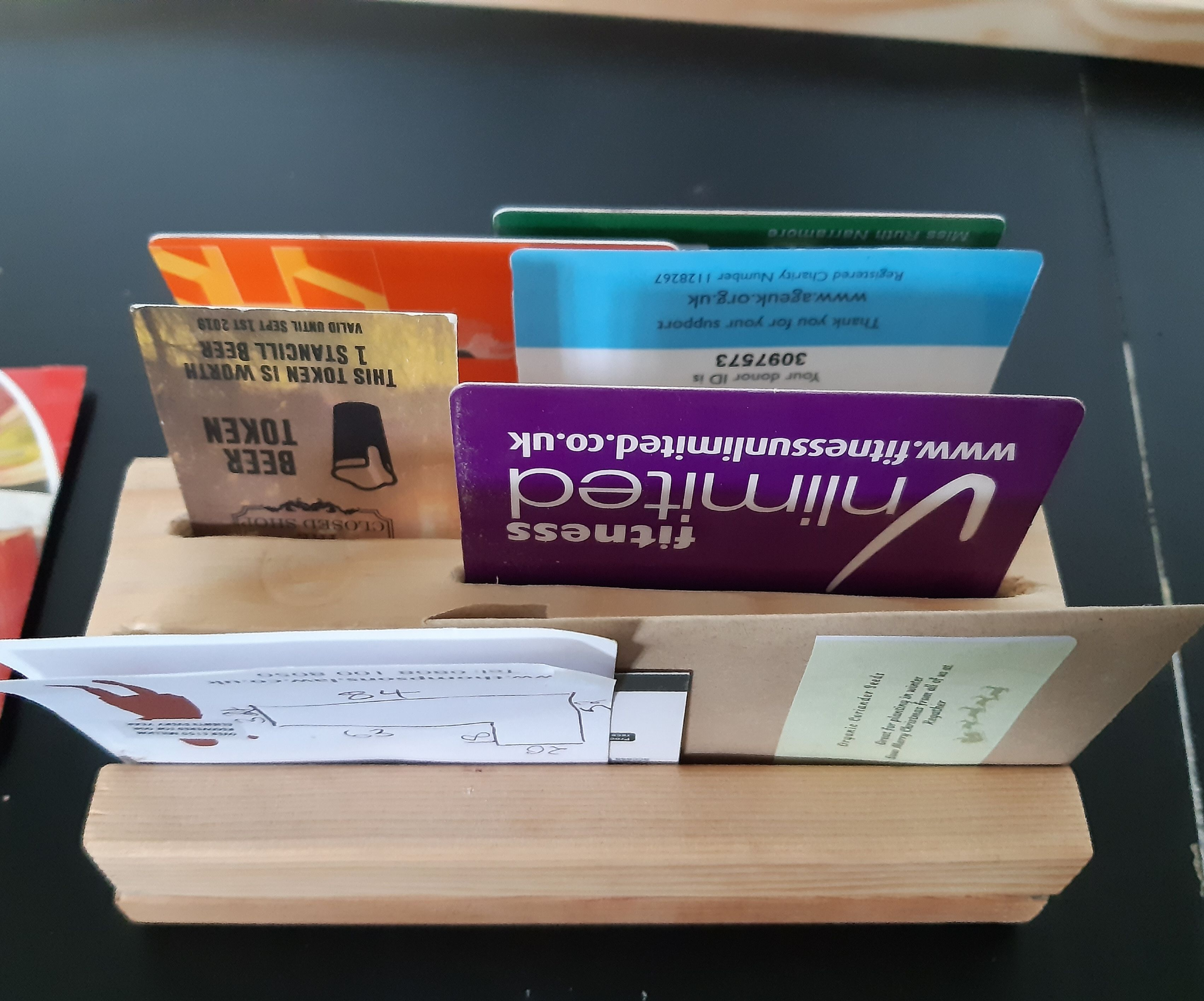 Upcycled Wood Card Holder