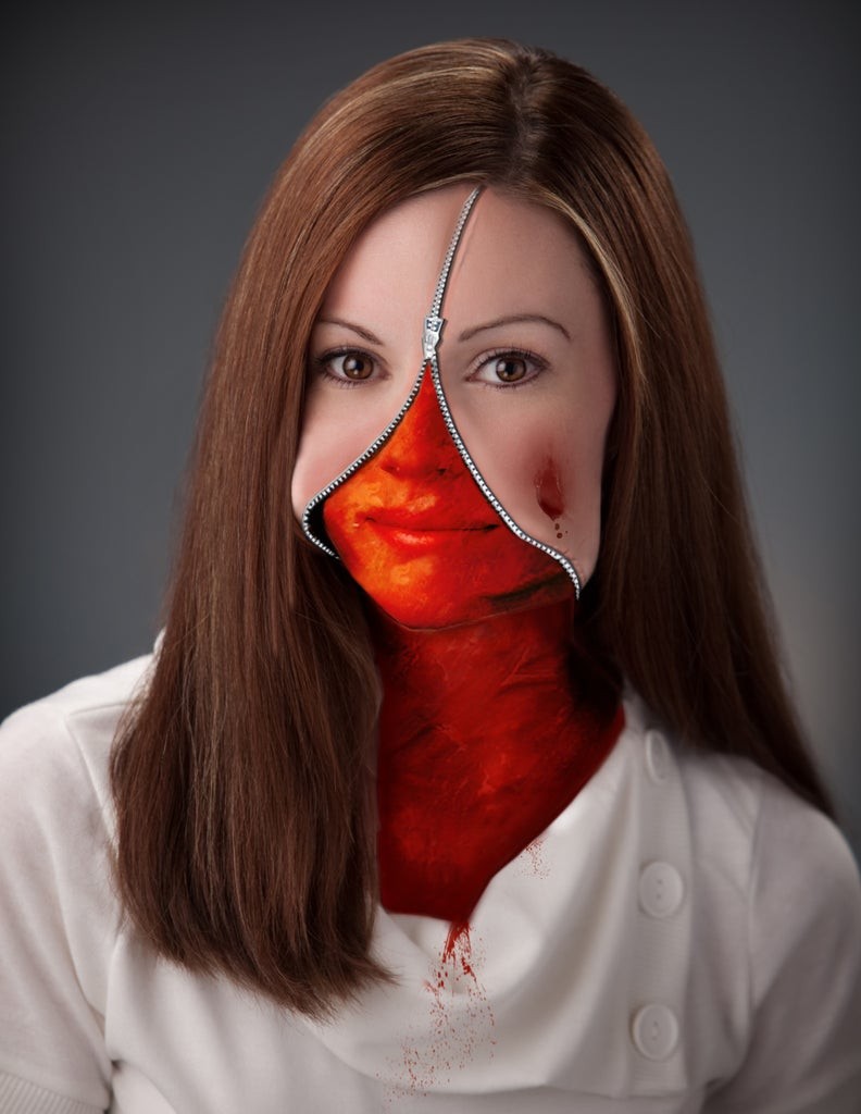 Zippered Face in Photoshop - Graphic!