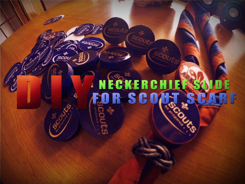 Scout Neckerchief Badge Slide