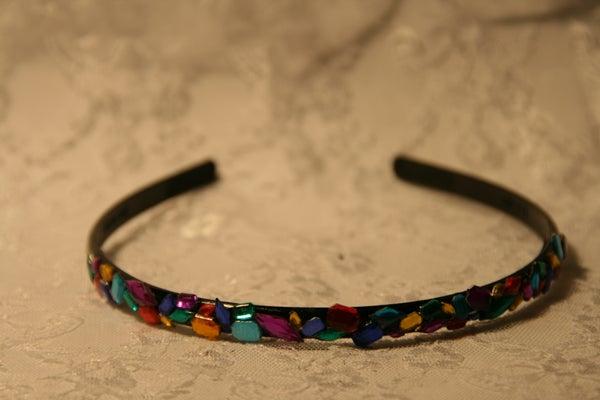 Hairband With Multicolor Rhinestones