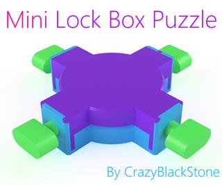 Miniature Lock Box Puzzle - 3D Printed