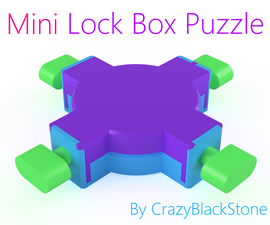 Miniature Lock Box Puzzle - 3D Printed