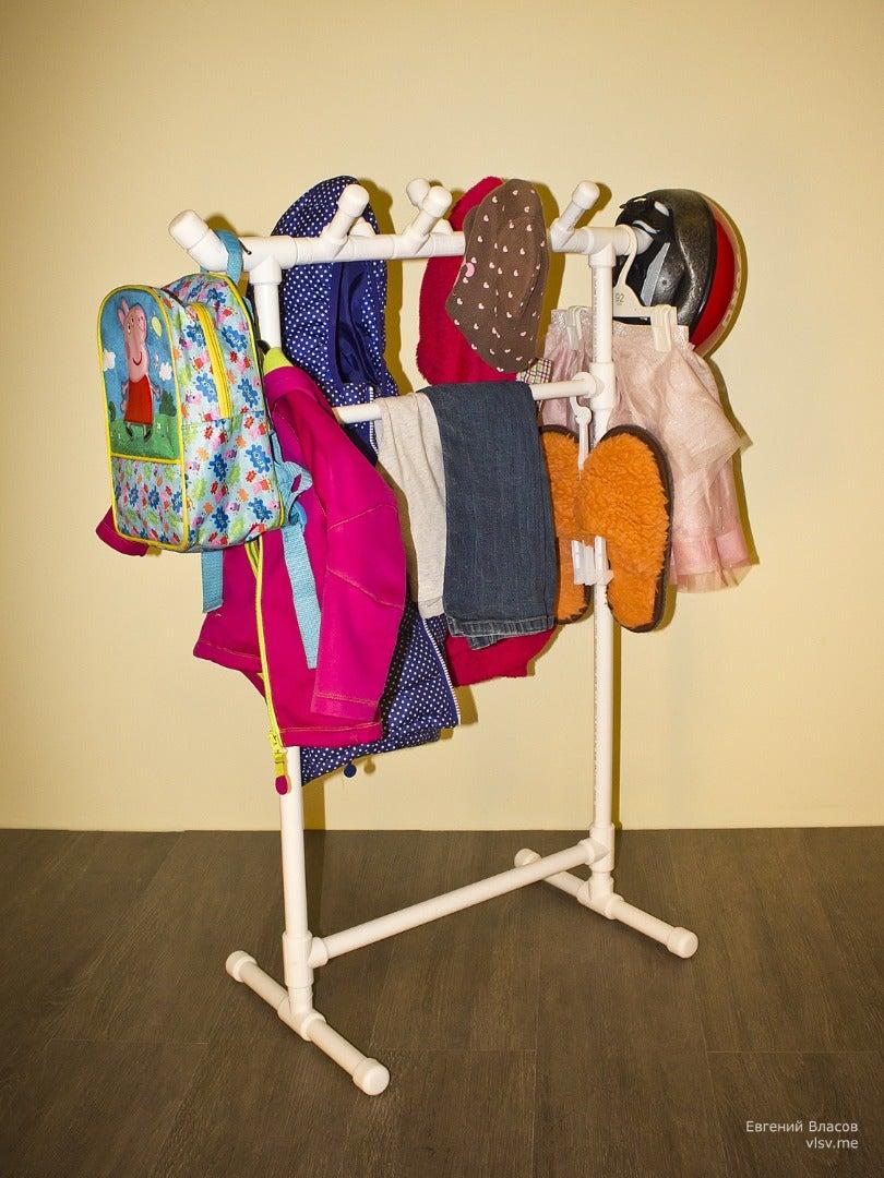 PVC Rack for Kids Clothes