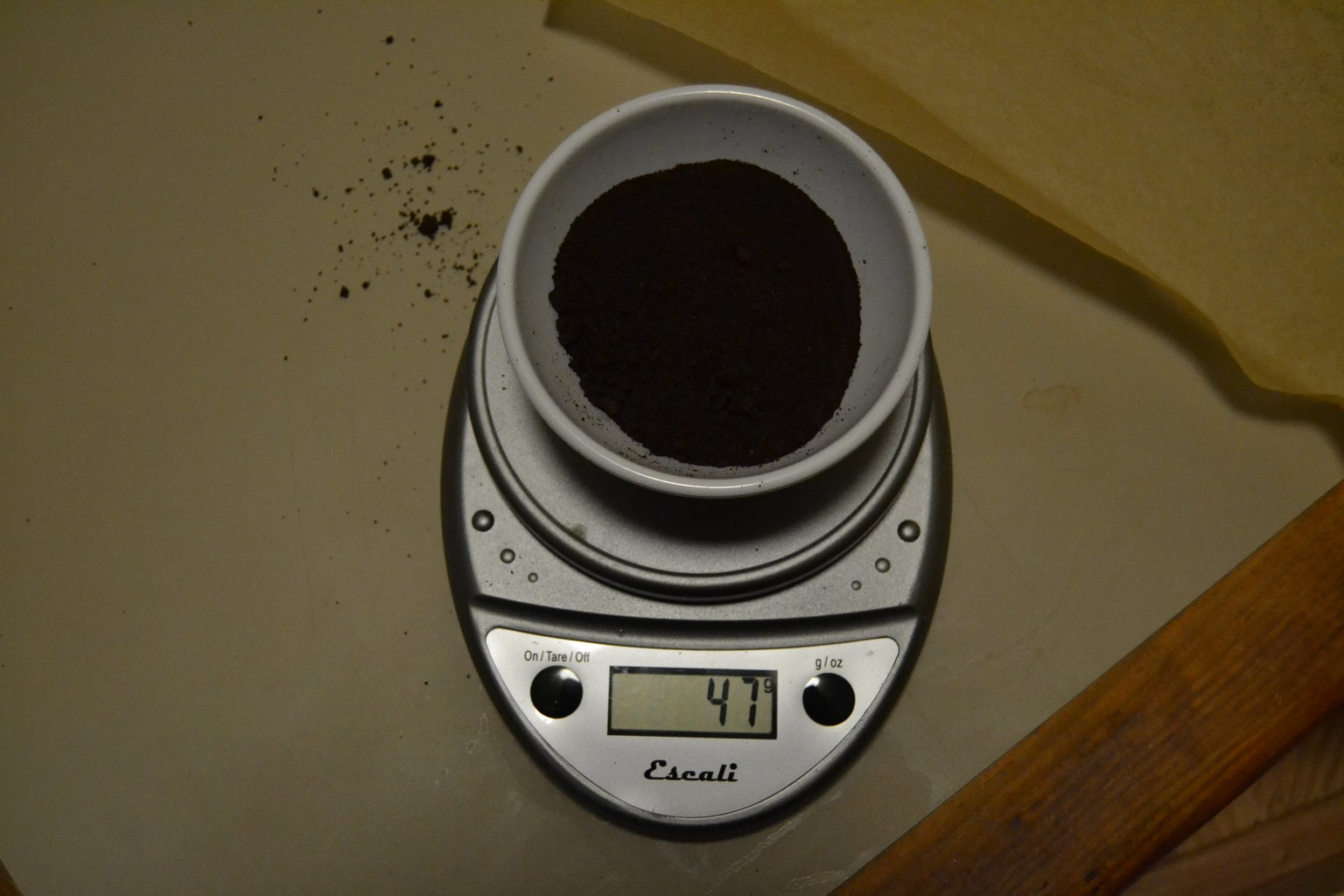 Drying the Coffee Grounds