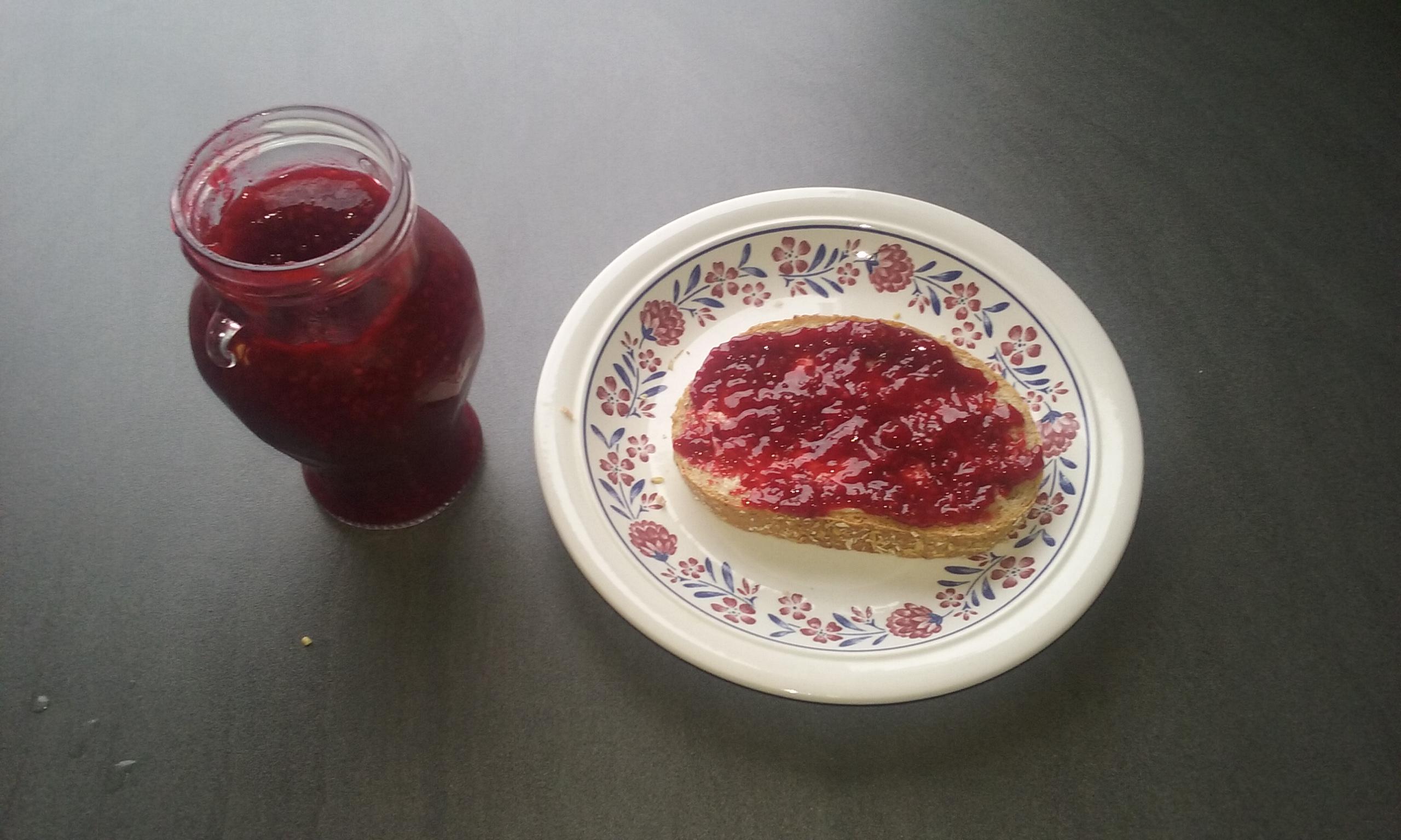 Delicious rasperry jam