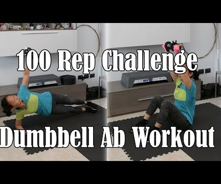 Intense Dumbbell Ab Workout - 100 Rep Exercise Challenge