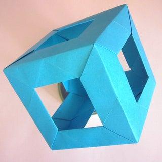 Open Cube Modular Origami