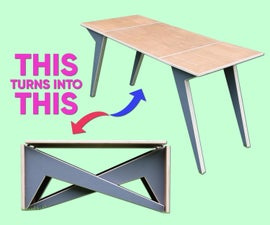 Convertible Plywood Coffee Table