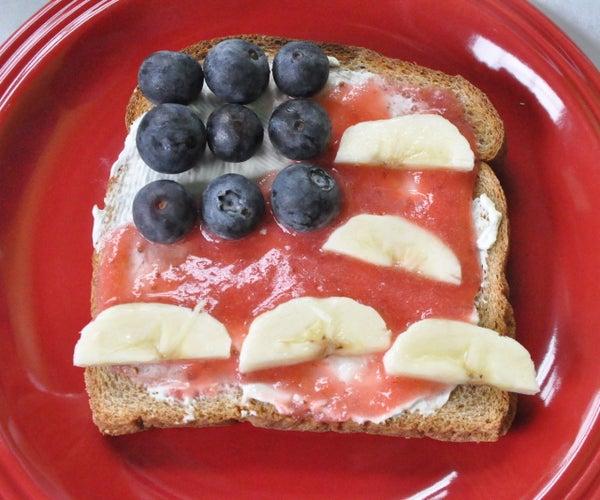 American Flag Toast (July 4th Recipe)