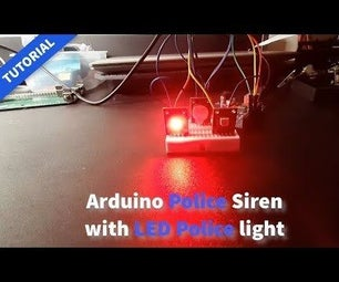 Arduino Police Siren With LED Police Lights - Tutorial