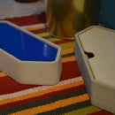 Silicon mold to cast a pencil Box