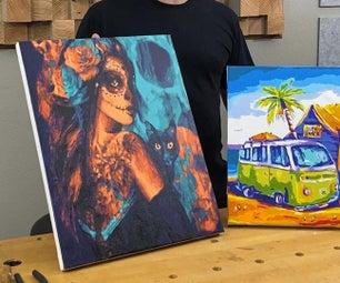 DIY Frame to Stretch Canvas