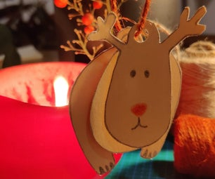 Reindeer Moving: an Easy Decoration