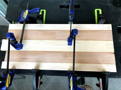 Arrange Wood and Glue the Boards