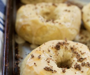 Simple Biscuit Doughnuts With a Vanilla Glaze