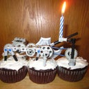 The ultimate lego candle spinning cupcake contraption