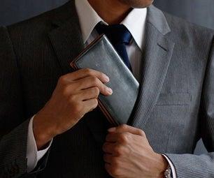 Leather Long Wallet Billfold