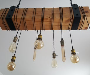 Rustic Wooden Chandelier