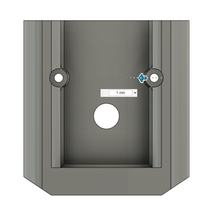 Design Process - Stationary Fixture - Optional Screw Hole Chamfers