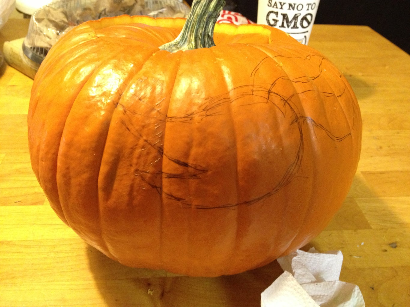 Trace or Draw Zero Onto Your Pumpkin