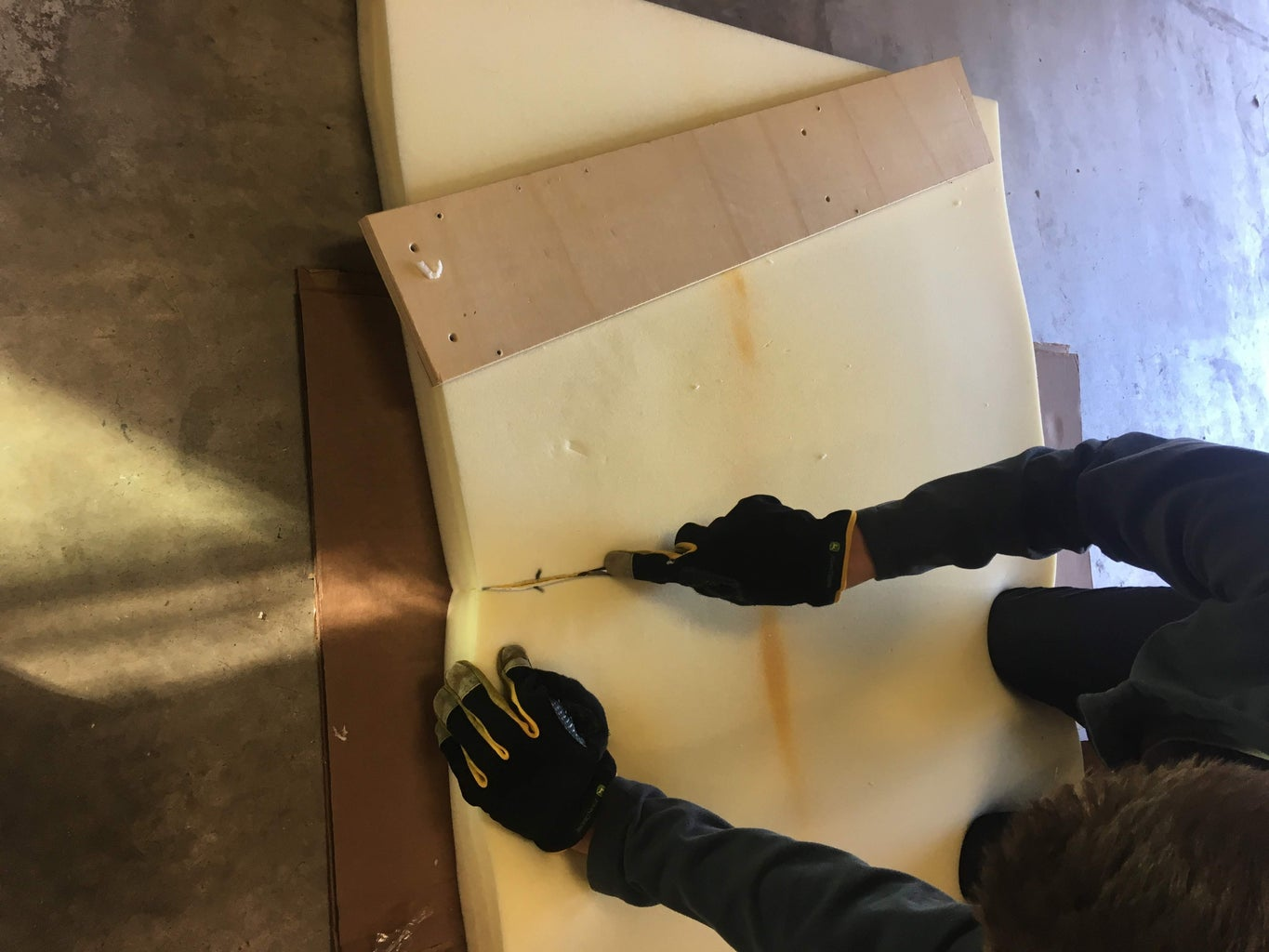 Ripping the Wood Sheet Into a Usable Size