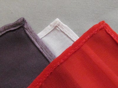 Samples of Finished Hems
