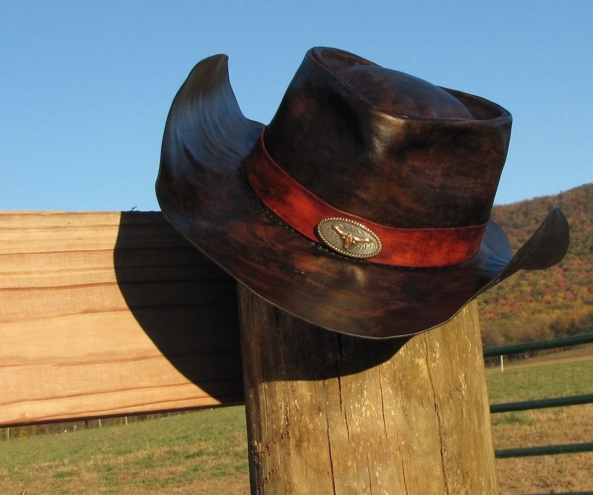 Hand-Crafted Leather Cowboy Hat