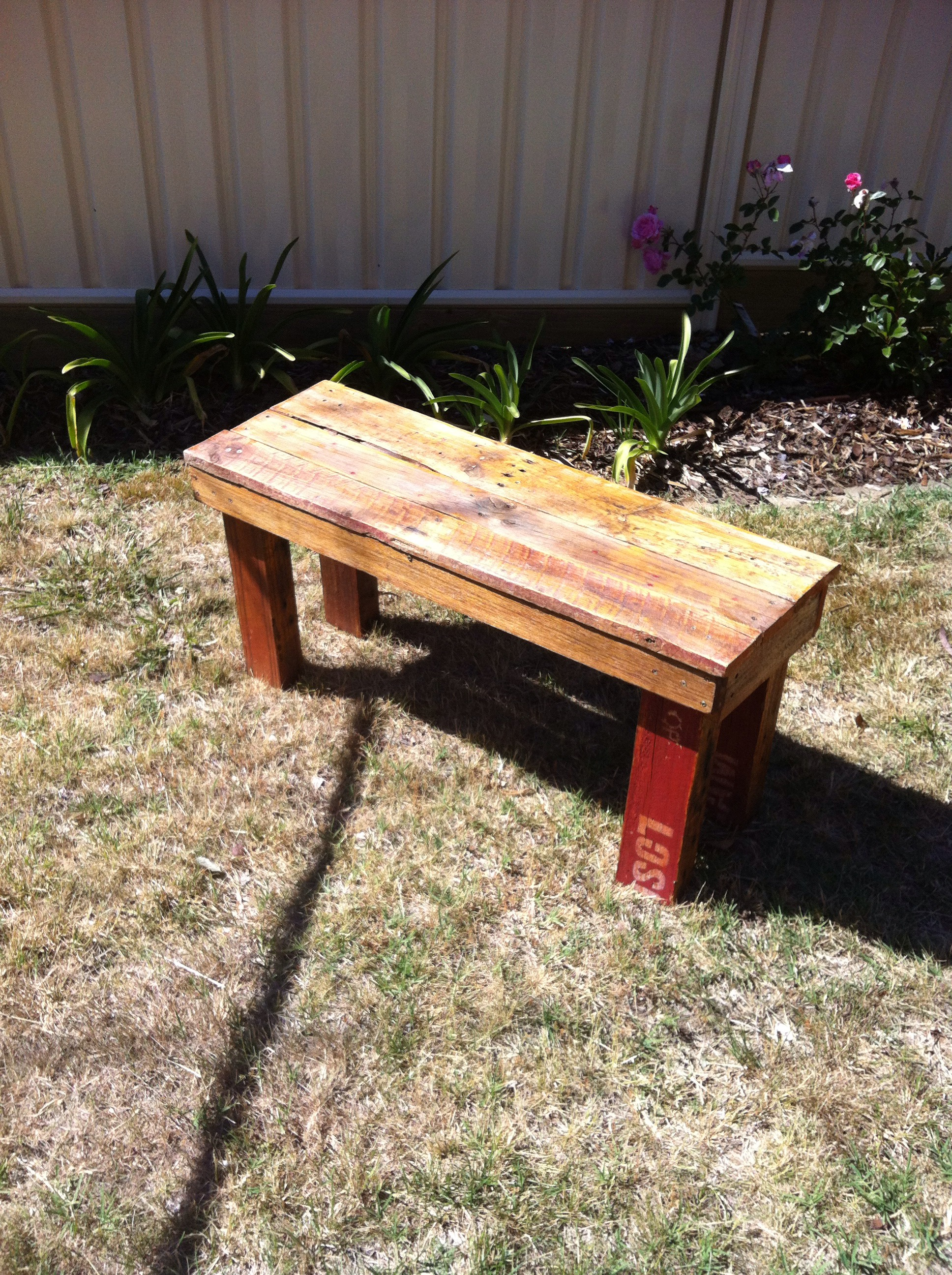 Diy Pallet Bench 9 Steps Instructables