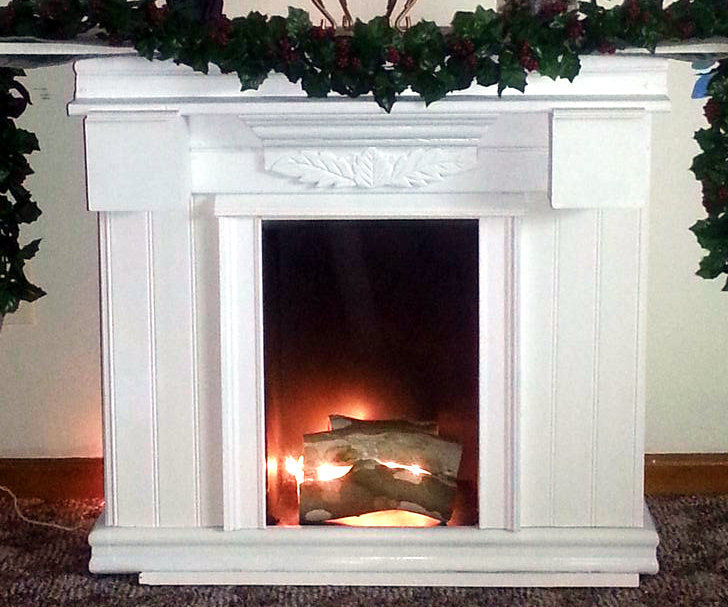 Mini Fireplace - Upcycled Materials